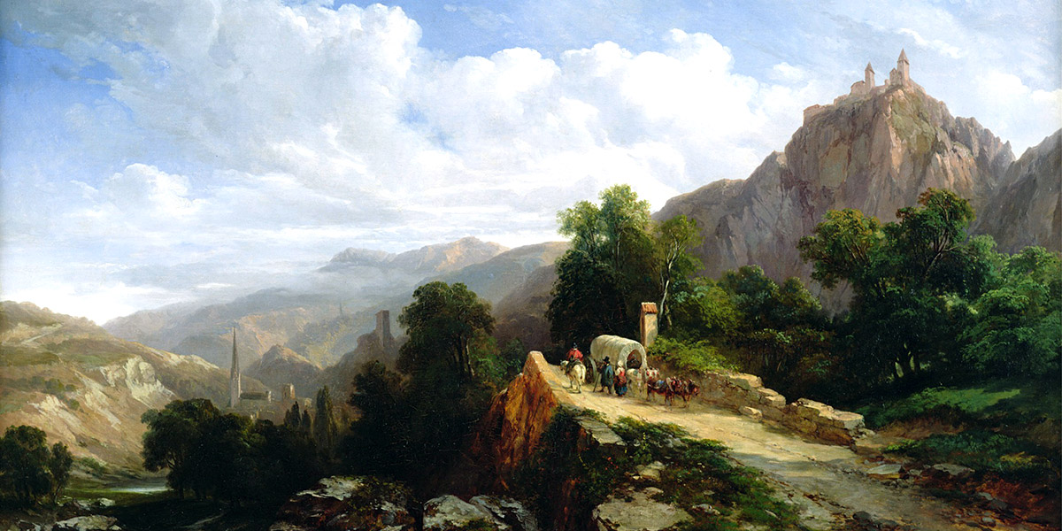 Road to Tyrol. Jules Coignet