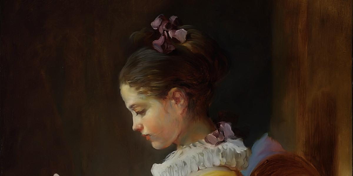A Young Girl Reading. Jean-Honore Fragonard