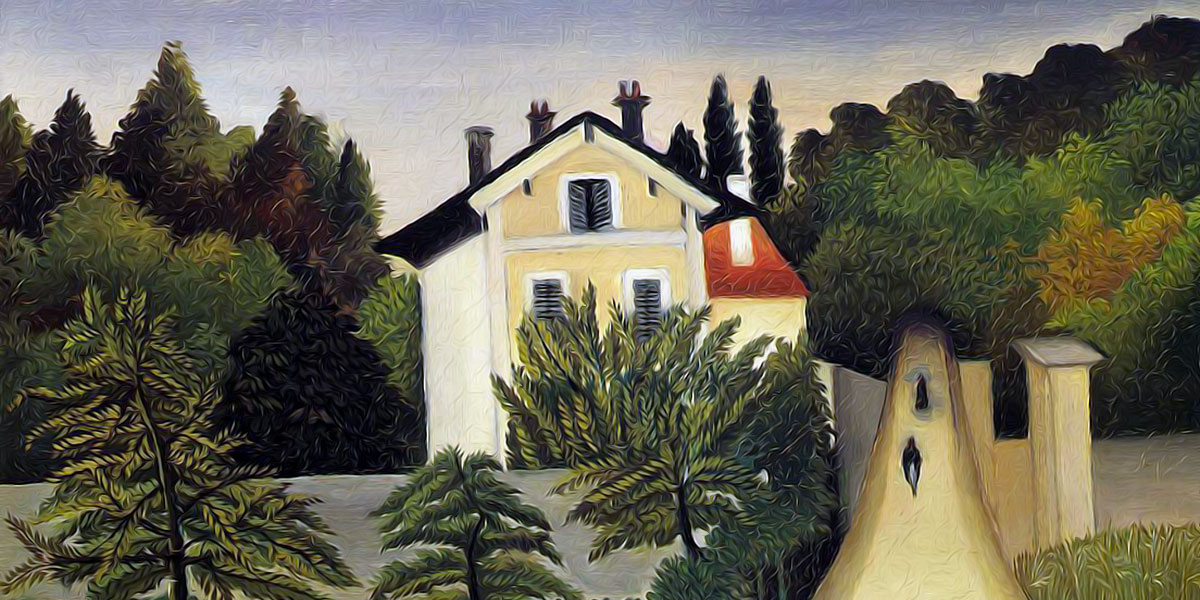 House on the Outskirts of Paris. Henri Rousseau