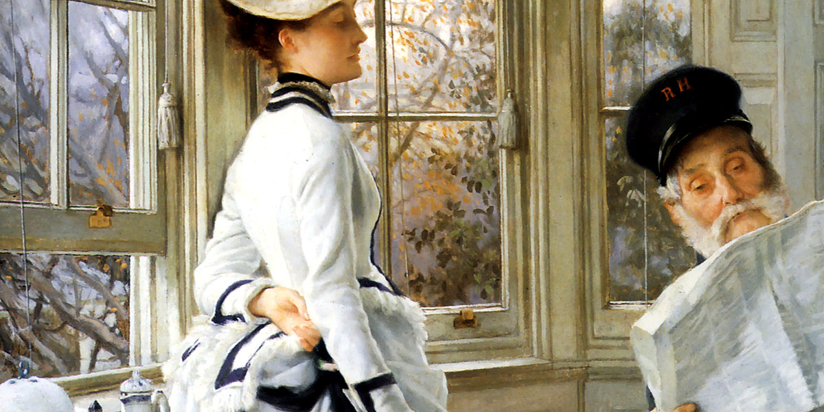 Reading The News. James Tissot. Date: 1874