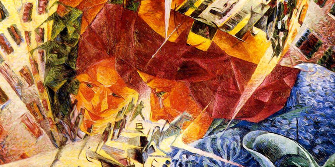 Visioni simultanee di Umberto Boccioni
