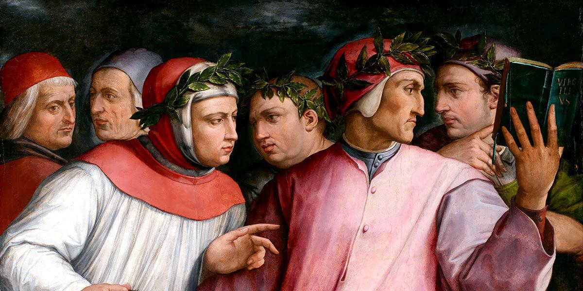 """""""Sei poeti toscani"""" - Giorgio Vasari - 1544 - Minneapolis Institute of Arts"""