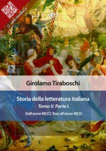 Storia della letteratura italiana. Tomo V – Parte I, di Girolamo Tiraboschi