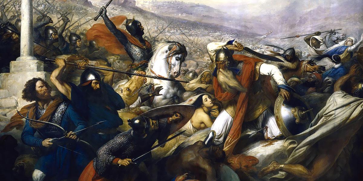Charles de Steuben (1788–1856). Carlo Martello alla Battaglia di Poitiers