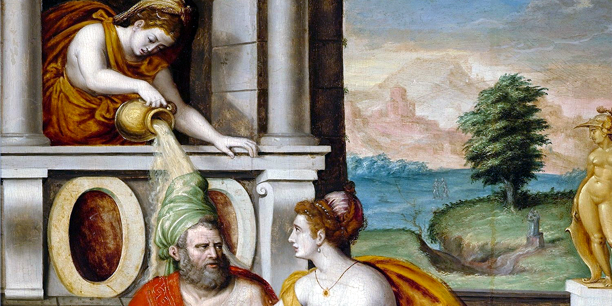 Socrates and Xanthippe. Luca Penni (1500–1556)