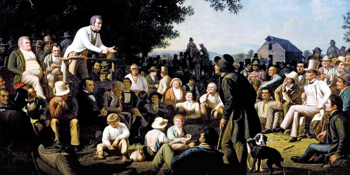 Stump Speaking, 1853–54, di George Caleb Bingham