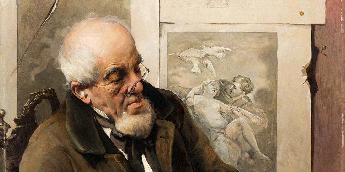 """""""Amateur des estampes"""" di Vittorio Matteo Corcos"""