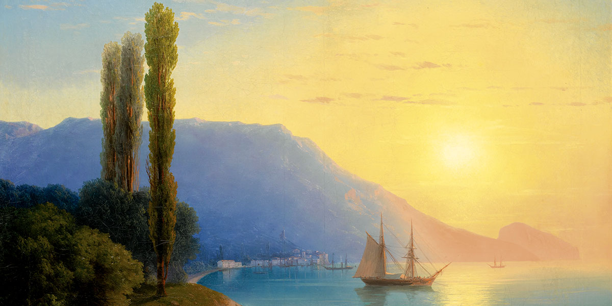 Sunset over Yalta. Ivan Aivazovsky