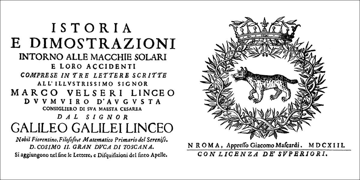 Istoria e dimostrazioni intorno allemacchie solari