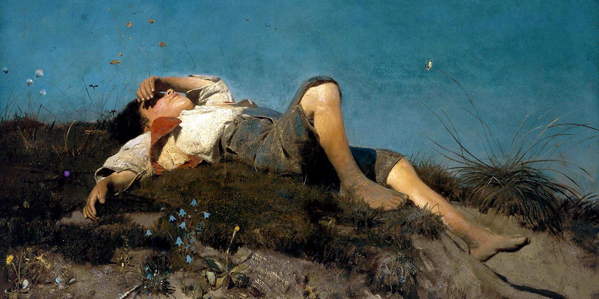 A shepherd boy. Franz von Lenbach