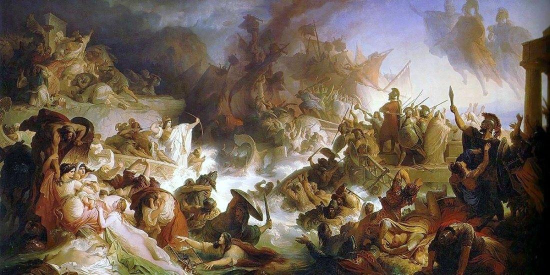 Wilhelm von Kaulbach. La Battaglia di Salamina