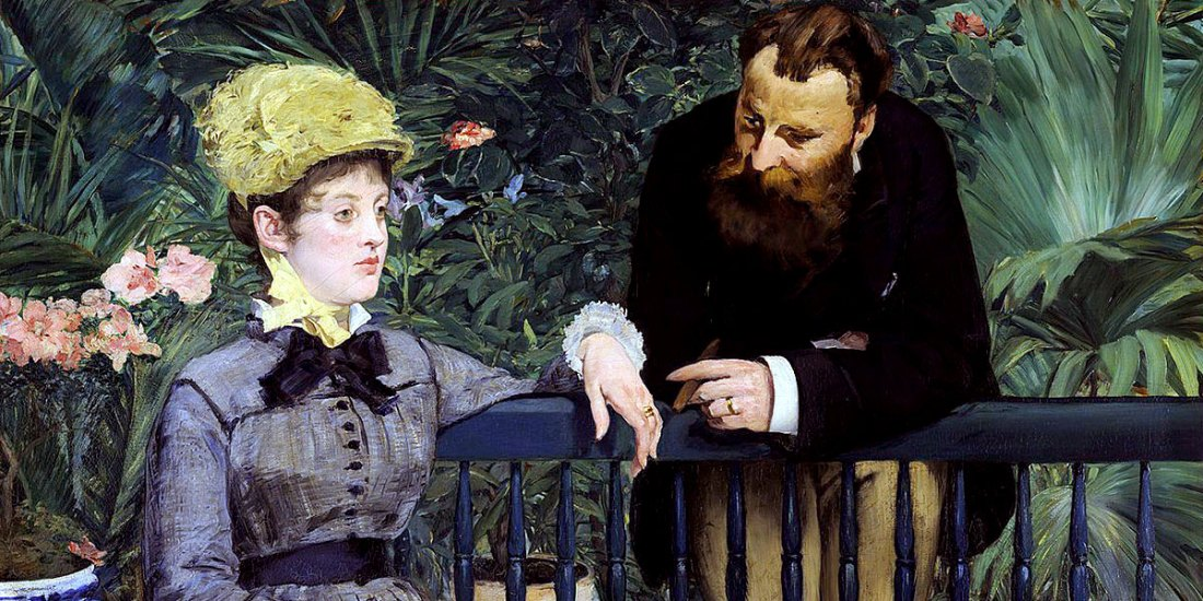 In the Conservatory. Édouard Manet