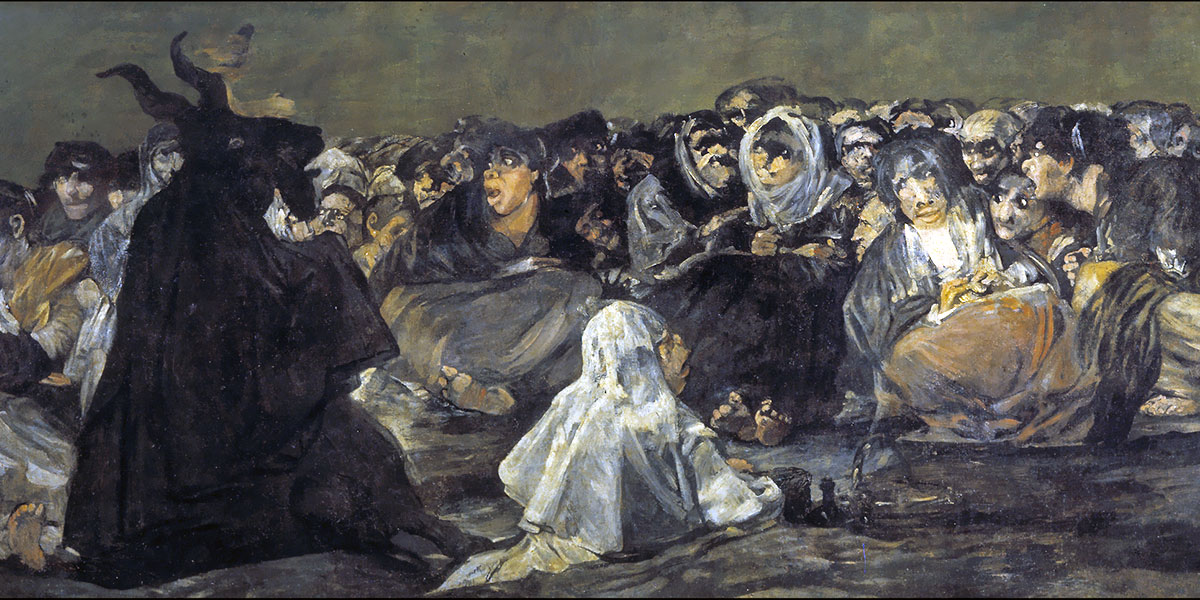 Witches' Sabbath / The Great He-Goat. Francisco Goya