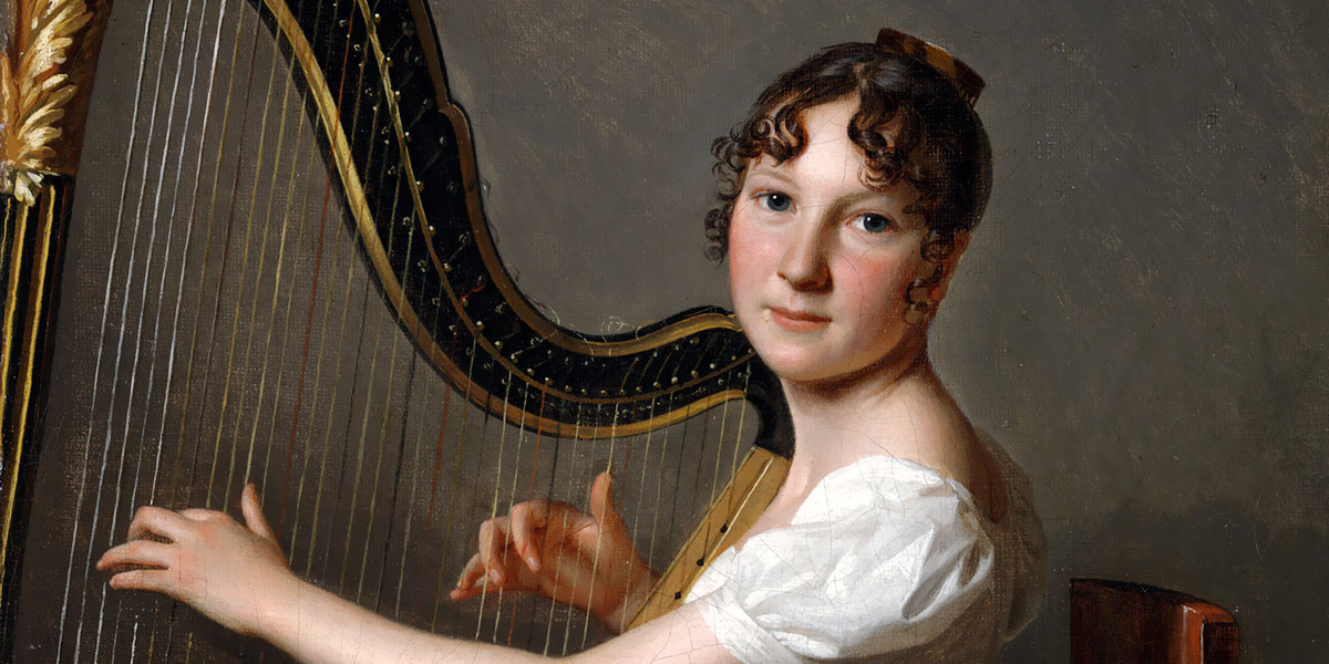 Louis Léopold Boilly - The Young Harpist