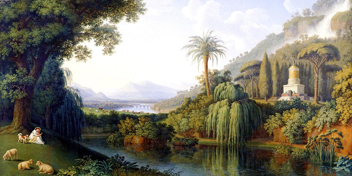 Landscape with Motifs of the English Garden in Caserta. Jacob Philipp Hackert