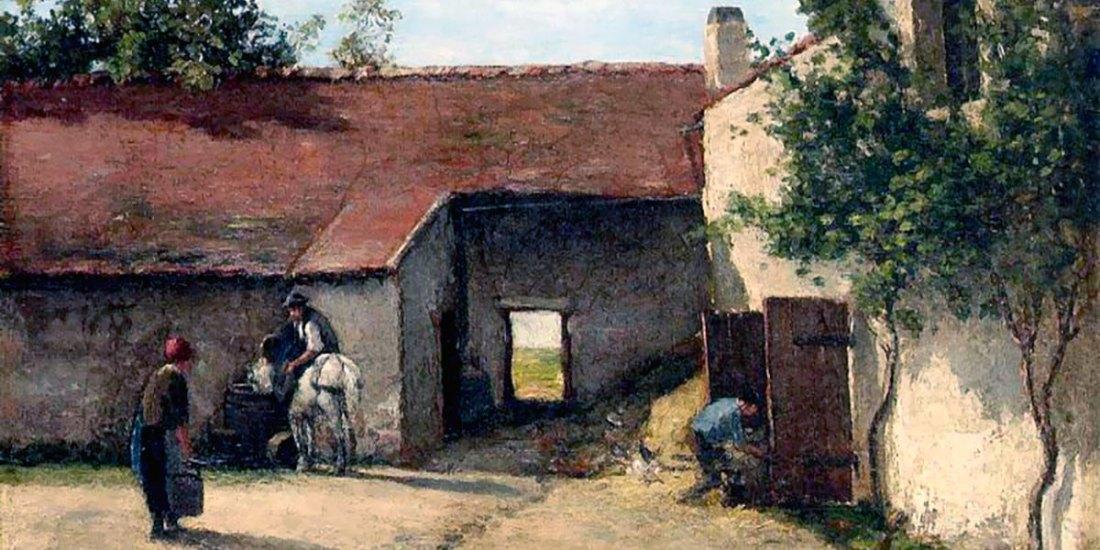 Farmyard. Camille Pissarro