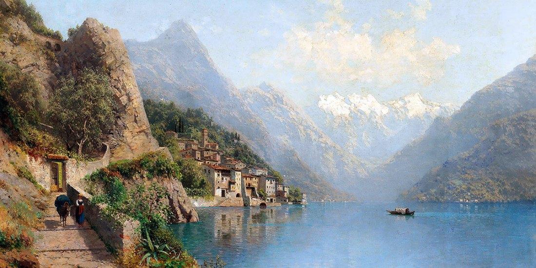 """""""Gandria on Lake Lugano"""" di Robert Schultze."""