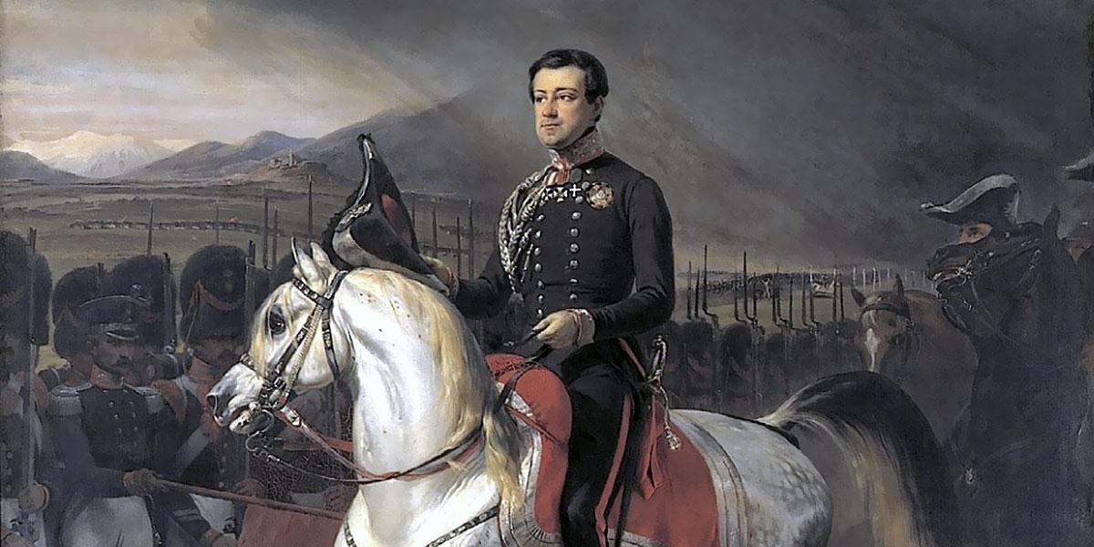 Carlo Alberto ritorna in Piemonte nel 1824. Horace Vernet