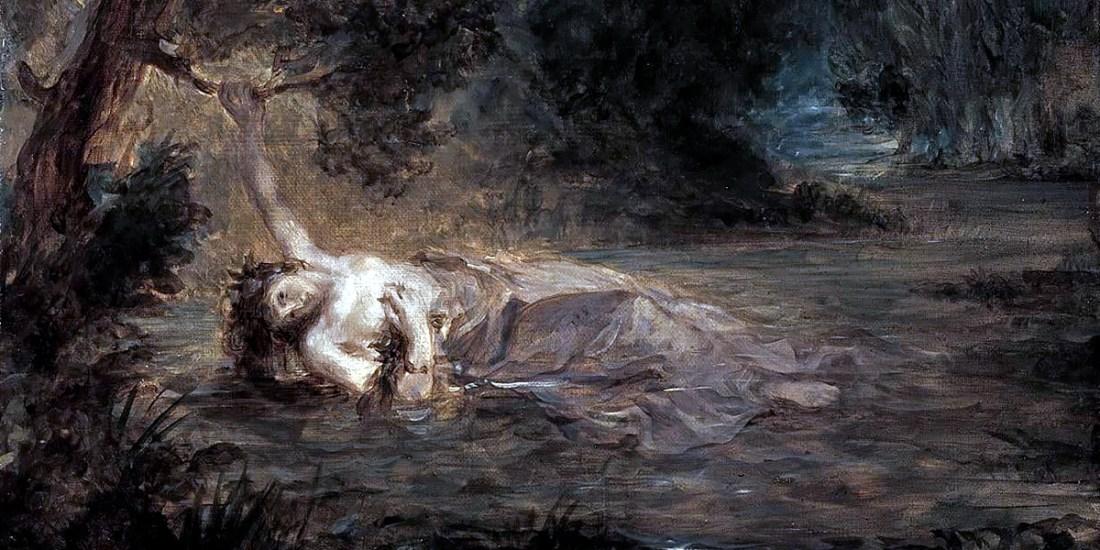 Eugène Delacroix - The Death of Ophelia