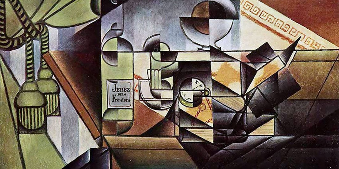 The Watch (The Sherry Bottle). Juan Gris