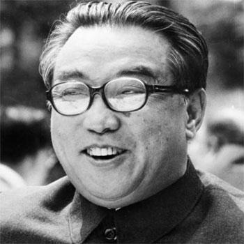 """Il""""Presidente Eterno"""" della Corea del Nord, Kim Il-sung (1912-1994)."""