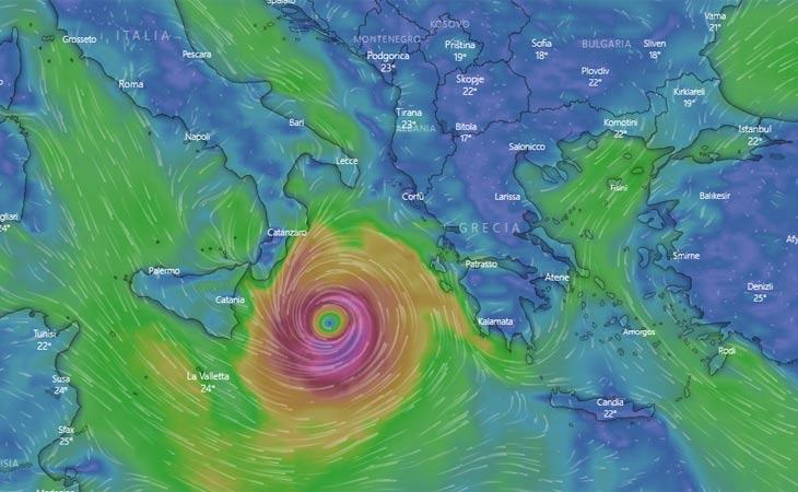 Mediterraneo: allerta Meteo per il ciclone Medicane