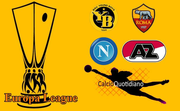 Europa League: cade il Napoli, vittoria in rimonta per la Roma