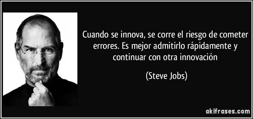 frase  Jobs sobre los errores