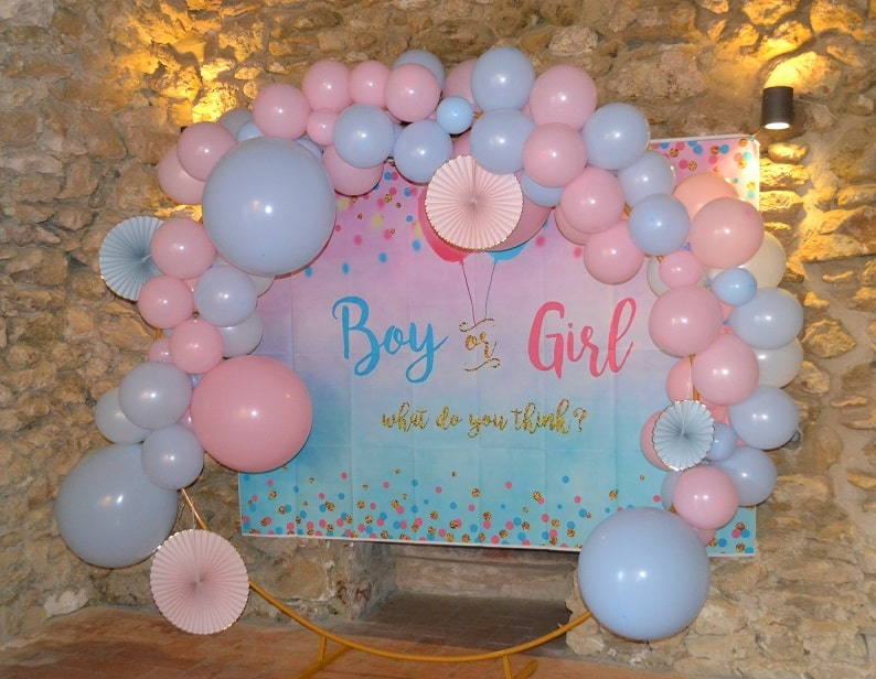 Arche gender reveal ballons