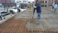 Pouring First Floor Concrete
