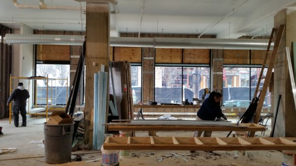 New Penn Herb Company store windows being installed