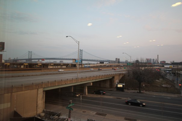View of Ben Franklin Bridge