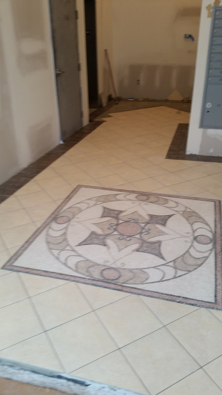 Liberties Gateway Apartments Lobby Tile