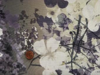 tissus patchwork japonais fond gris et