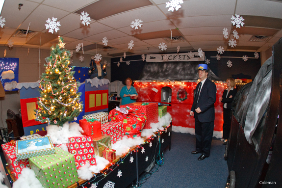 Christmas decorations take over campus offices