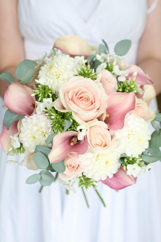 Dahlia wedding bouquet
