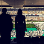 DJT Melania & Modi Photograph Silhouett Stadium