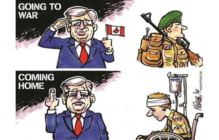 Politicians on Soldiers vs Veterans
