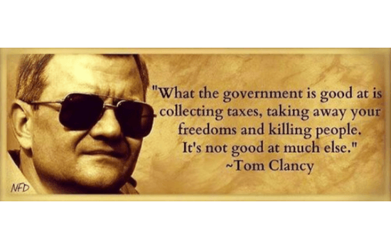 Tom Clancy on Government
