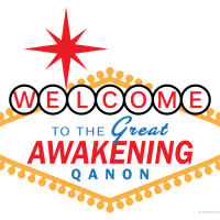 Welcome to the Great Awakening Qanon Vegas Sign Meme