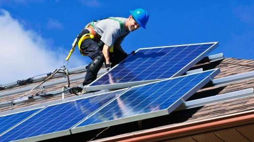 Instalando sistema de energia solar