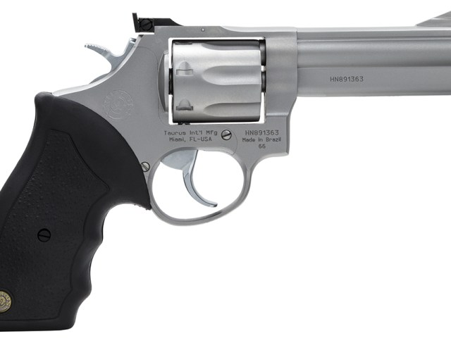 New Taurus 66 .357 Magnum, 7 Rounds, SA/DA, 4″ BBL, AS, Stainless: $399