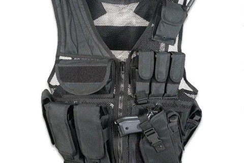 New Leapers UTG Law Enforcement Tactical Vest, Black: $59
