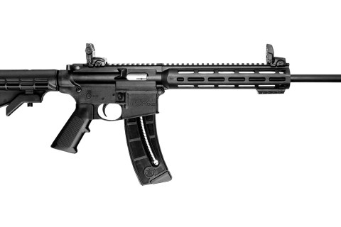 New Smith & Wesson M&P 15-22, .22LR, 16.5″ Threaded Barrel, Black Finish, Collapsible Stock, 25 Rounds: $399 Coming Soon