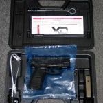 Preowned Springfield XD40, Striker Fired, Sub Compact, .40 S&W, 3″ Barrel, Polymer Frame, Black Finish, Fixed Sights, 2 Magazines, 1-12 Round & 1-9 Round: $339
