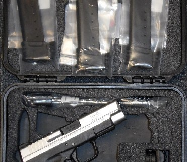 Preowned, Never Fired, Springfield Armory XDS, .45 ACP, 4″ Barrel, 5, 6, 7 Rounds, Bi-Tone with Essentials Package: $399