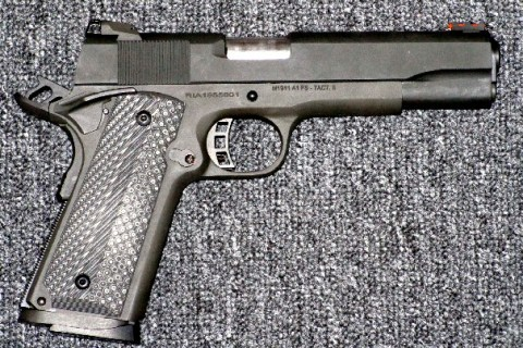 Preowned Rock Island M1911-A1 Tactical II, 9mm,  5″ Barrel, 10 Rounds, FO Front Sight, Adjustable Rear Sight, G2 Grips: $429