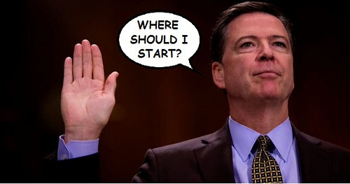 James Comey testifies photo