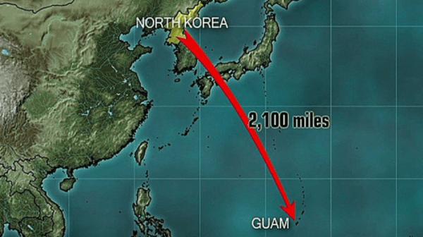 North Korea Threatens to Strike Guam at Any Moment