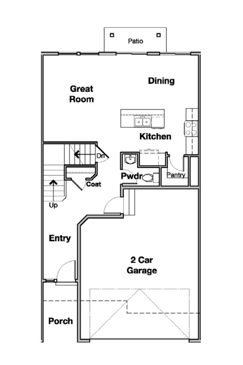 Bridger Interior Townhome Floorplan in Salt Lake, UT